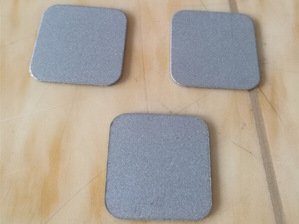 Sintered porous SS plate
